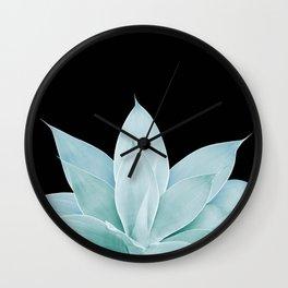 Green Agave on Black #1 #tropical #decor #art #society6 Wall Clock