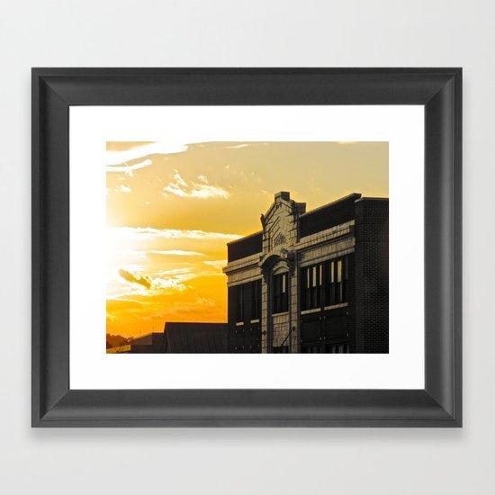 Palace Theatre Sunset Framed Art Print