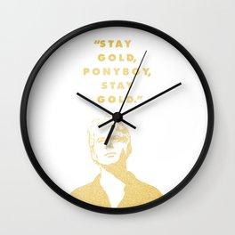 Look to the Futura Wall Clock