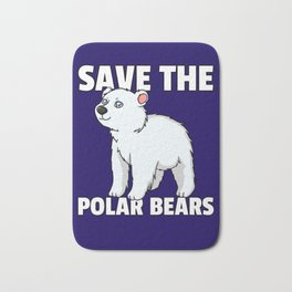 Polar Bear Ice Bear North Pole Bath Mat