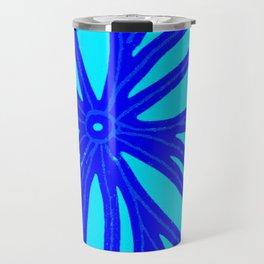 aqua blue bloom Travel Mug