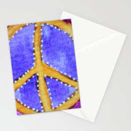 Golden Peace Sign Stationery Cards