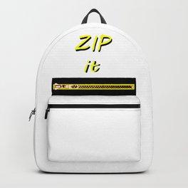 Zip it Black Yellow jGibney The MUSEUM Gifts Backpack