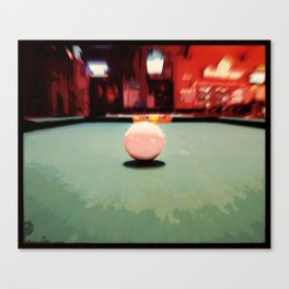 Cue Ball Abstract  Canvas Print