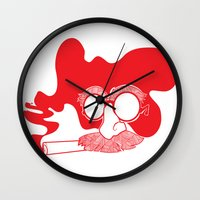 marx Wall Clocks featuring Groucho Marx by Stephanie Keir