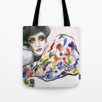 kandinsky Tote Bags featuring Dressed in Kandinsky by Bruna Babic