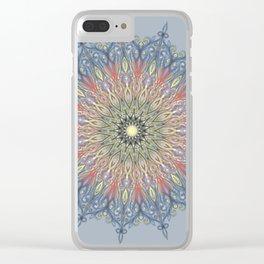 swirl mandala Clear iPhone Case