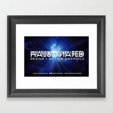 Halucinated Design + Motion Graphics Framed Art Print