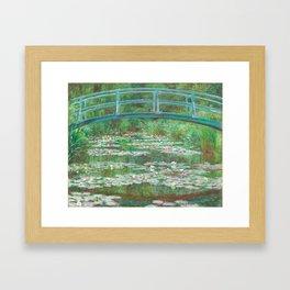 Claude Monet - The Japanese Footbridge Framed Art Print