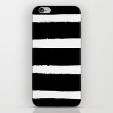 Black & White Paint Stripes by Friztin iPhone & iPod Skin