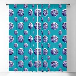 pine cone in aqua, purple and indigo Blackout Curtain