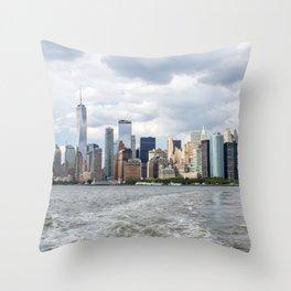 NYC Skyline 2017 Throw Pillow