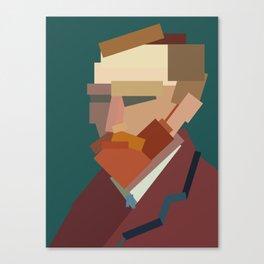 Geometric Van Gogh Canvas Print