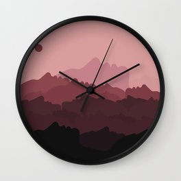 Love Mountain Range Wall Clock