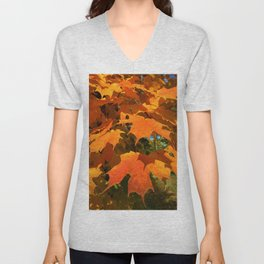 Autumnal Burst Unisex V-Neck