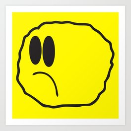 Lonely Meatball - Yellow Art Print