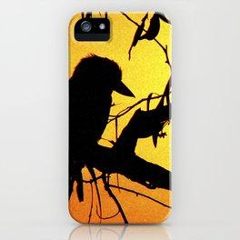 Kookaburra Silhouette Solstice Sunset iPhone Case