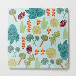 Tropical Plant Pattern Metal Print