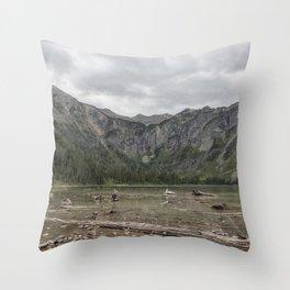 Avalanche Lake No. 1 - Glacier NP Throw Pillow