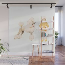 Poodle Power Dressing Wall Mural