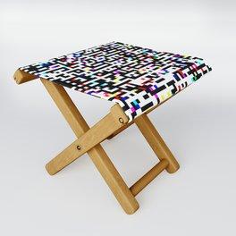 Abstract 8 Bit Pattern Folding Stool
