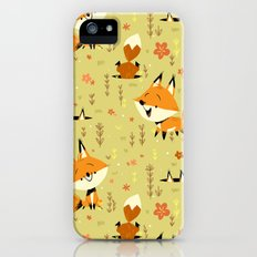 Foxes in the Spring Slim Case iPhone SE