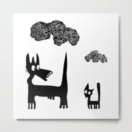 It's Raining Cats and Dogs Metal Print