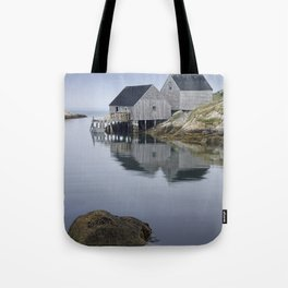 Early Morning at Peggy's Cove Harbor Tote Bag