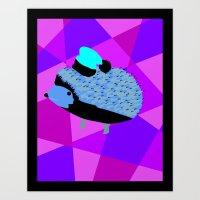 Christmas Hedgehog Art Print