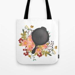 Floral Cast-Iron Tote Bag