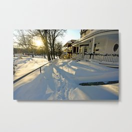 Sherbrooke winter Metal Print