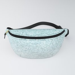 Turquoise Glitter and Marble Fanny Pack