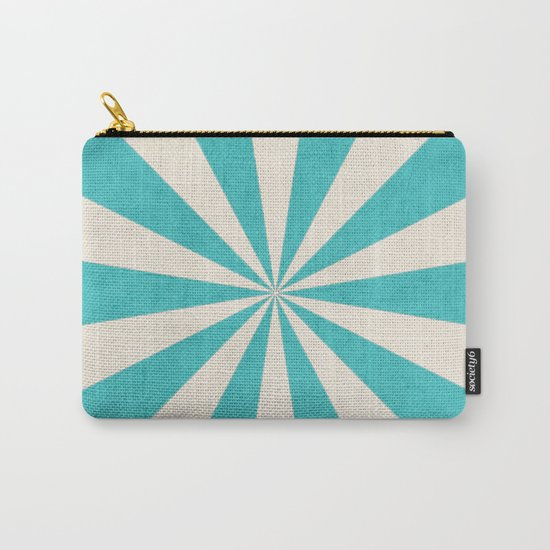 aqua starburst Carry-All Pouch