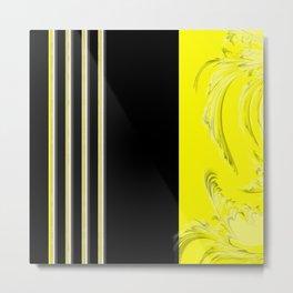 Yellow and black design Metal Print