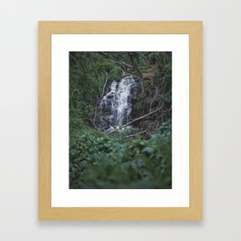 Queens Bath Waterfall Framed Art Print
