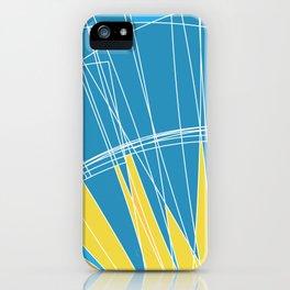 Abstract pattern, digital sunrise illustration iPhone Case