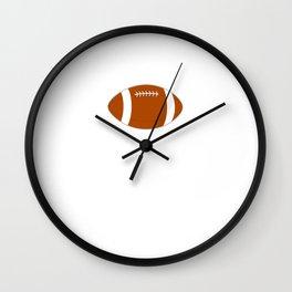 Proud Girlfriend of Football Player Relationship T-Shirt Wall Clock