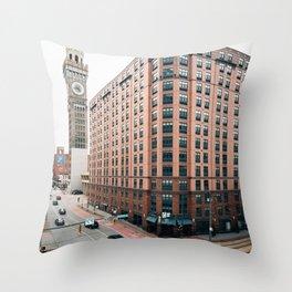 Lombard & Bromo-Seltzer Throw Pillow