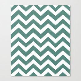 Wintergreen Dream - green color - Zigzag Chevron Pattern Canvas Print