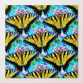 Swallowtails galore... Canvas Print