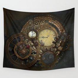 Steampunk Clocks Wall Tapestry