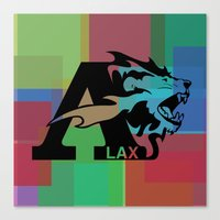 lacrosse Canvas Prints featuring Albright Lacrosse by Mike Stark