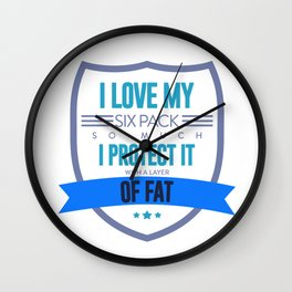 Fat Joke Funny Excuses Food Lover Big Belly Design Wall Clock