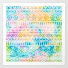 Pastel Tribal Pattern Art Print
