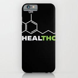 Healthcare THC Molecular Weed Cannabis iPhone Case