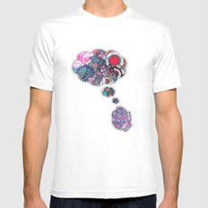 Combinations MEDIUM White Mens Fitted Tee