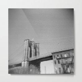 Brooklyn Bridge 03, Holga Metal Print
