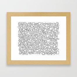 Graphic Geometric Black and White Minimalist Print Framed Art Print