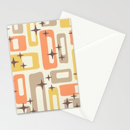 Mid Century Modern Geometric Abstract 133 Stationery Cards