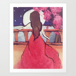 Overlooking a Balcony Art Print